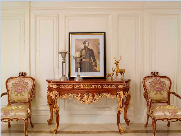 万兴欧式家具宫系列6601玄关台+6602休闲椅